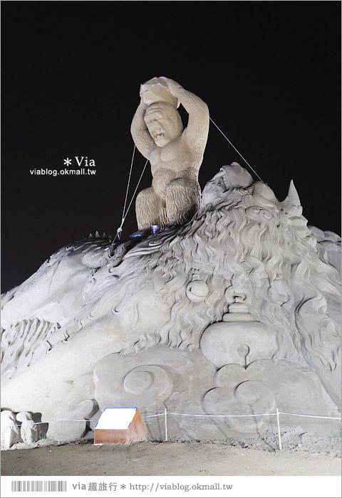 【2014台灣燈會在南投】南投沙雕燈會~夜間點燈好浪漫!還有精彩光雕秀24