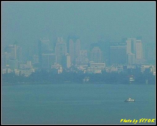 杭州 西湖 (其他景點) - 349 (從西湖十景之 雷峰塔上鳥瞰西湖的湖濱路湖畔及市區)