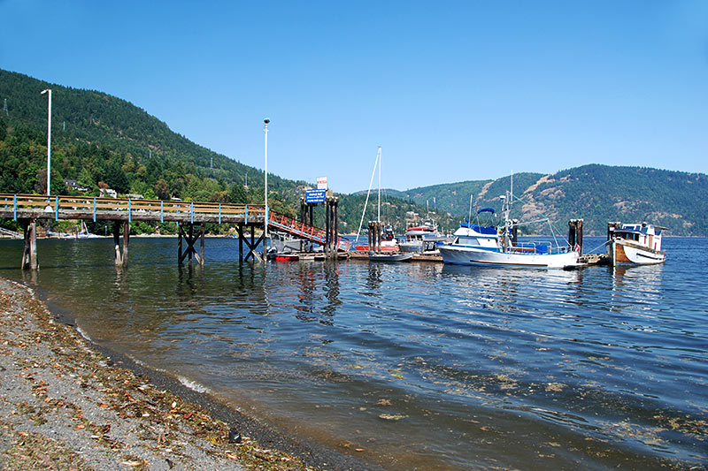 Government Wharf in Maple Bay, Vancouver Island, British Columbia, Canada