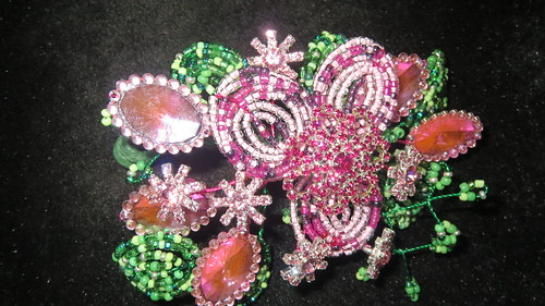corsage beads rinestones and sequins