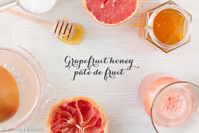 grapefruit honey pâte de fruit ingredients   Janice Lawandi @ kitchen heals soul