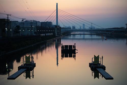 reflection water japan sunrise canon dawn vanishingpoint sony saitama a7 fd toda alpha7 sonyalpha7 sonya7 alphaa7 sonyalphaa7
