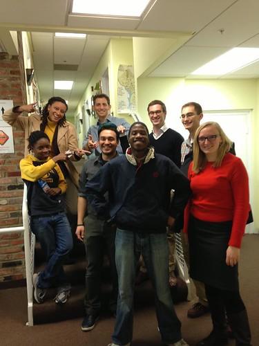 Photo of Sasha Bruce Youthwork clients and tutors.