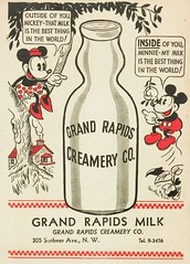 Strange Suggestive Vintage Milk Ad featuring Mickey and Minnie