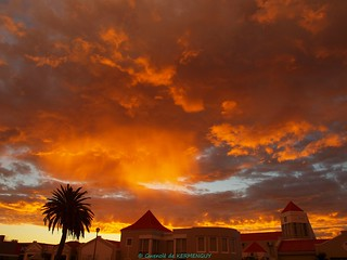 Walvis Bay Cloudy Sunset