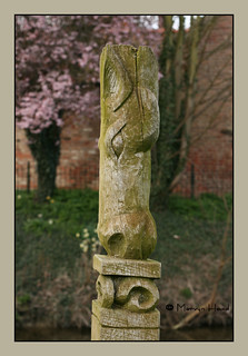 Carved Mooring Post