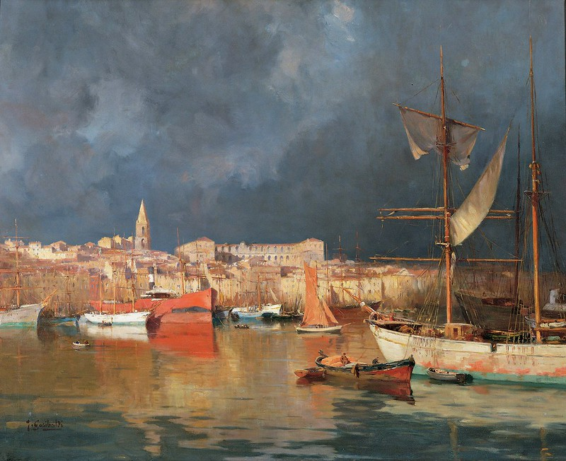 Joseph Garibaldi - Vieux port par temps dorage