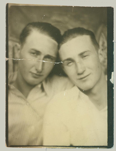 Two guys in a photobooth