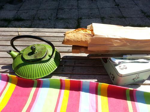 Petit déj au soleil