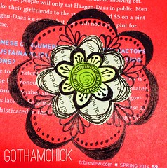 Paperkrafts: doodled paper pieces flowers  - step by step layering 4