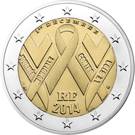 2 Euro Francúzsko 2014, Svetový deň boja proti AIDS