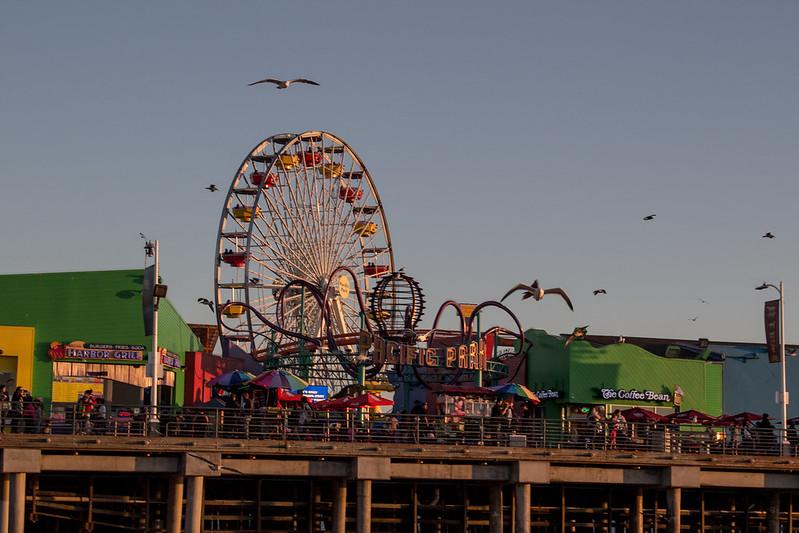 Santa Monica pier, LA, USA
