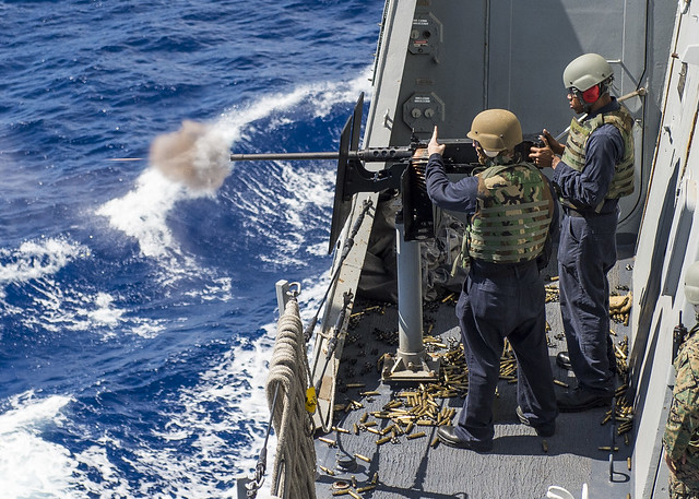 Live Fire Exercise Onboard USS Green Bay