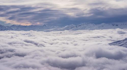 alps switzerland skiing flims graubünden