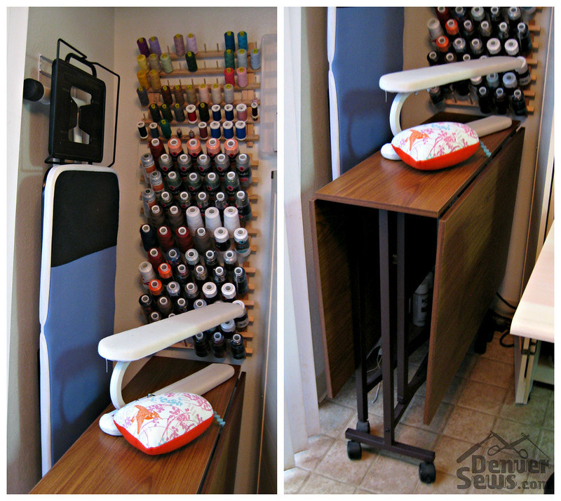 Tiny Sewing Corner - Ironing Board and Cutting Table