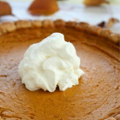 Healthy Pumpkin Pie! I can't wait...