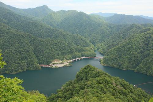 小天狗岳よりさっぽろ湖を望む