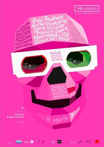 Cartell del festival Volumens 2015 València