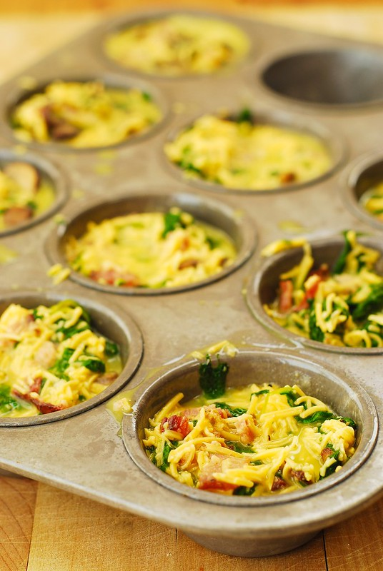 Breakfast Egg Muffins With Bacon And Spinach Julia S Album