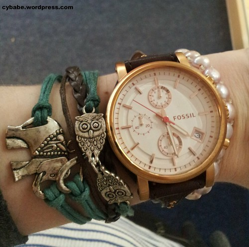 fossil elephant bracelet