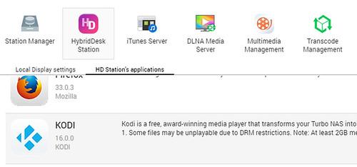 KODI in HD Station