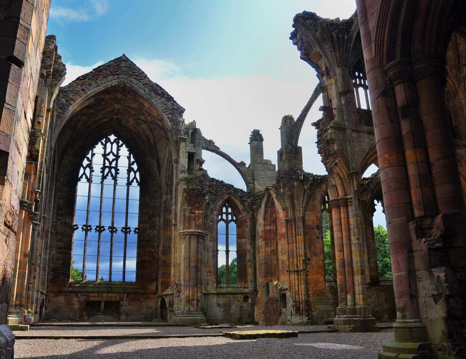 Melrose Abbey. Credit The Land