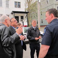 Governor Paul LePage Tours Fire Damage in Lewiston