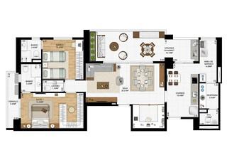 2 Suítes - 119 m2