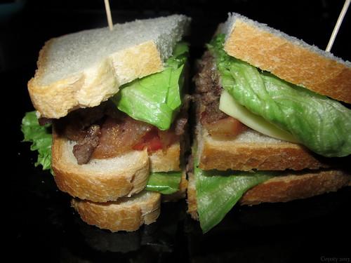 Cheeseteak club with garlic mayo by Coyoty