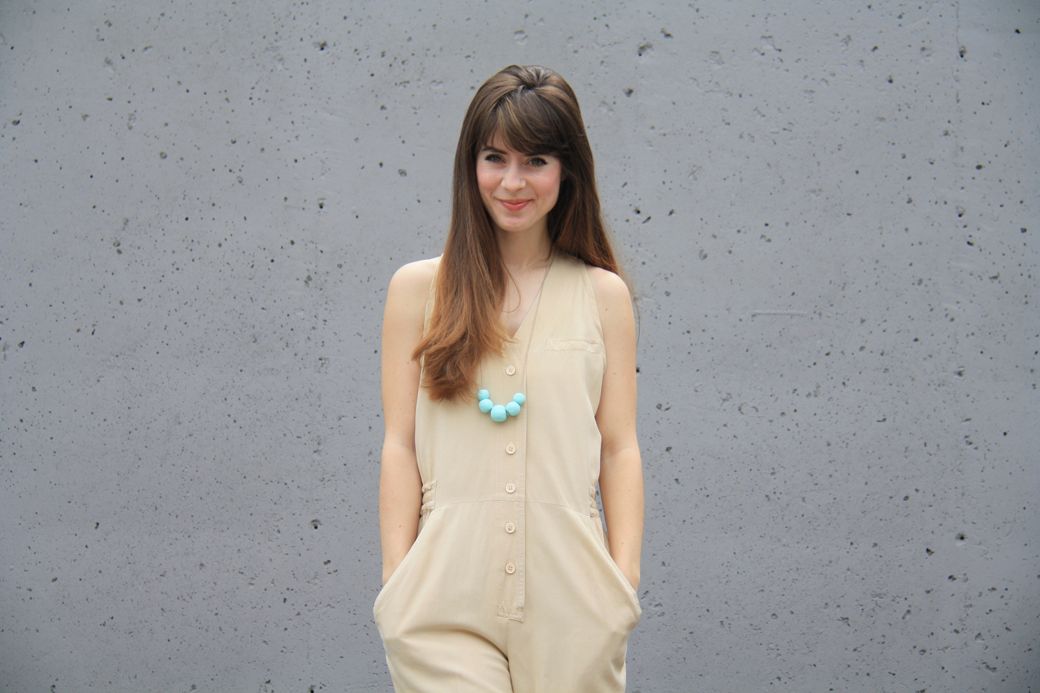 a silk jumpsuit