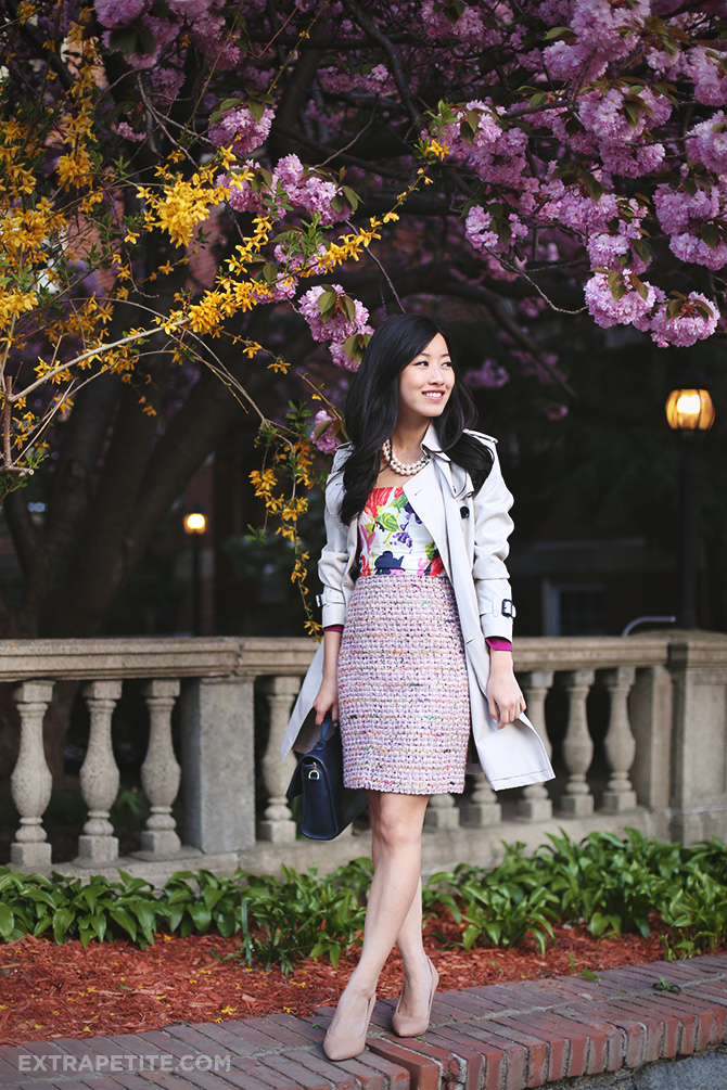 floral dress tweed skirt 4