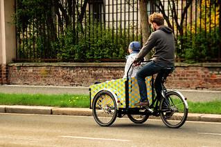 Město na kole v Hradci Králové