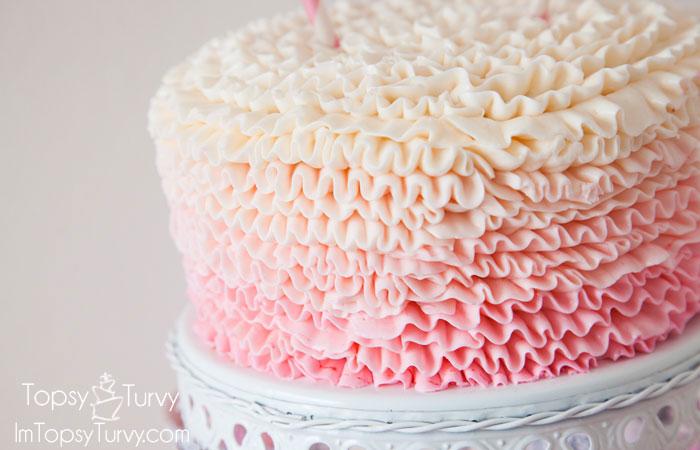 Easy Cake Ruffles