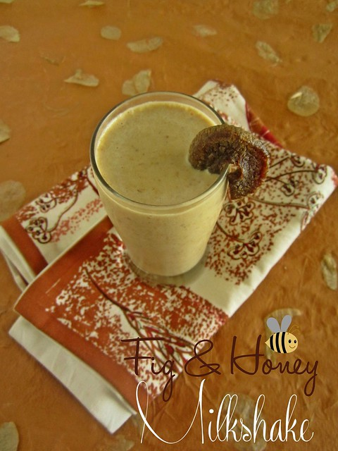 Anjeer Milkshake-Fig & honey Milkshake