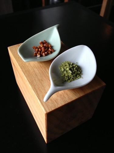 Buckwheat and green tea salt
