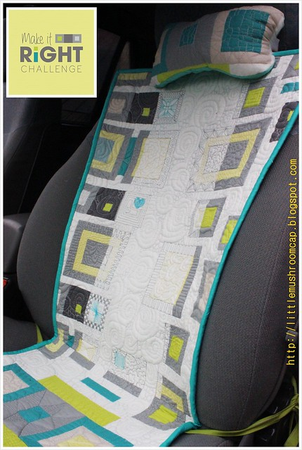 Make It Right Challenge - Quilted Car Seat Pad_Angela Walter Panel_front