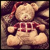Found Teddy Bear. Aged from 1964. Well used but still loved. :-)