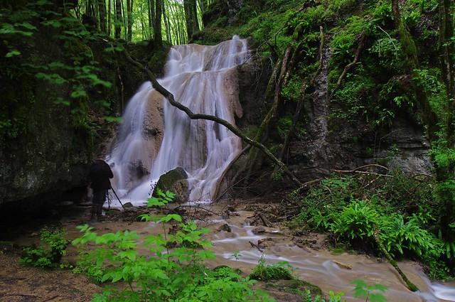 Cascade aval sur le ruisseau de l'oeil de boeuf, Noirefontaine