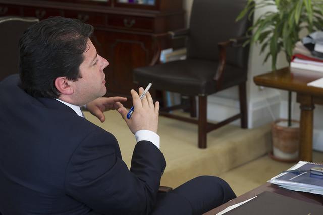 Fabián Picardo, en su despacho.