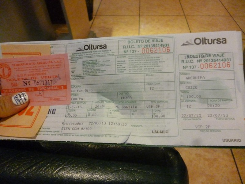 Oltursa bus tickets
