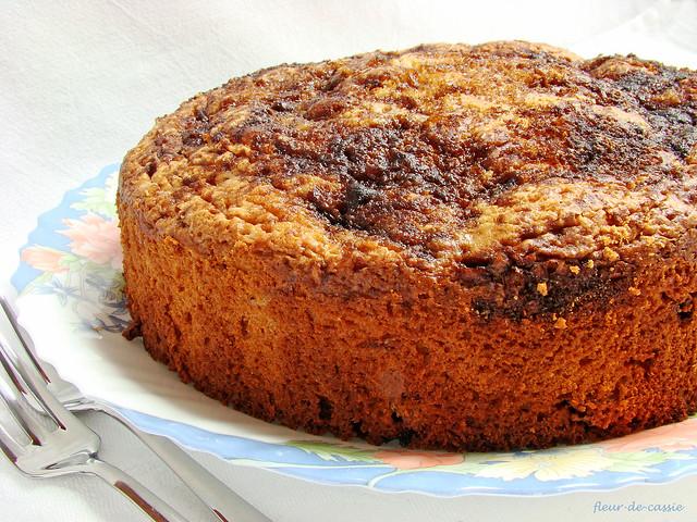 вишневый сметанный пирог 1