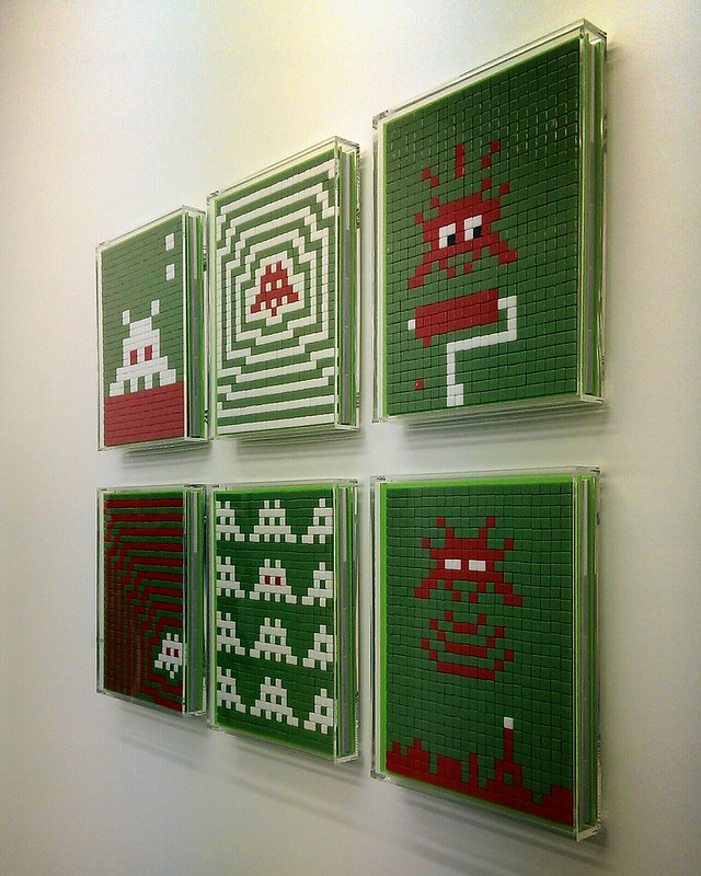 Invader in Opening Reception for 10 Years of Wooster Collective: 2003-2013
