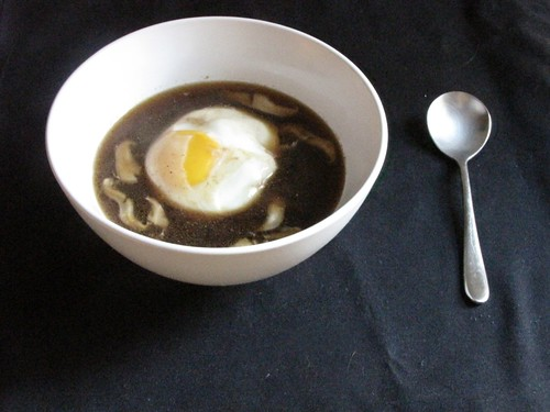 Shiitake Miso Soup with Poached Egg