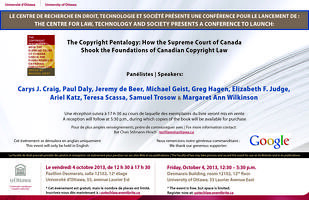 The Copyright Pentalogy Conference – Free Registration Now Open