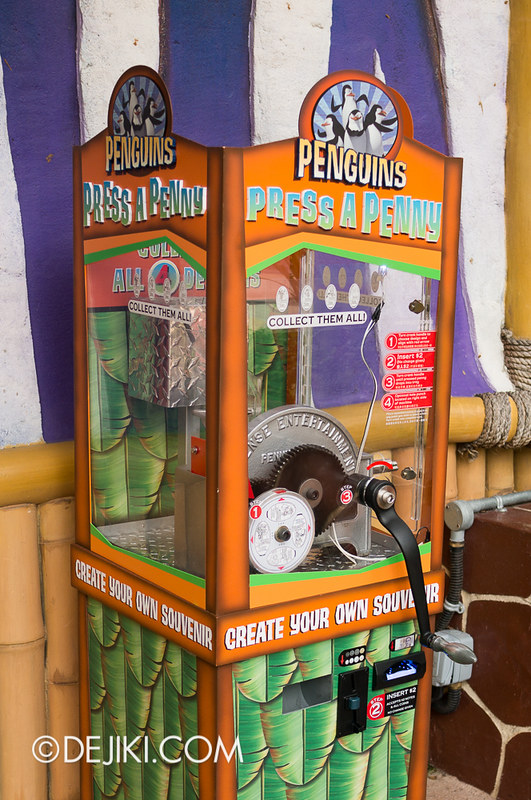 Universal Studios Singapore - Madagascar Press-A-Penny machine