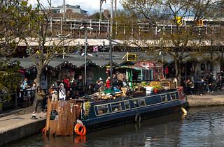 Camden Lock Village au bord du Regent's Canal
