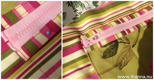 Campervan Bag - with Pink Zipped Pocket