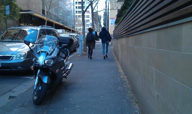 Parking on a narrow footpath