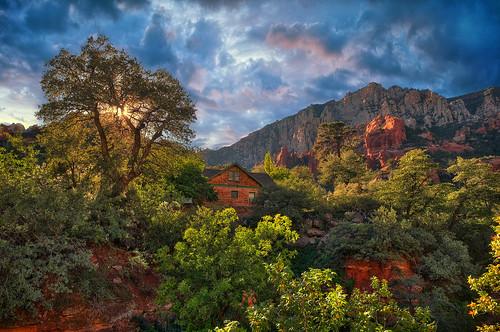 autumn trees sunset arizona usa nature landscape nikon day cloudy sedona canyon nikkor coconinonationalforest oakcreek sliderockstatepark