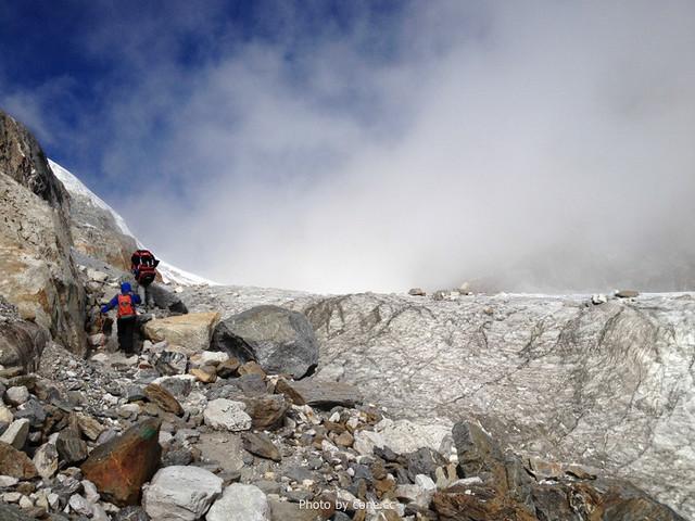 冰川地段,也是落石带